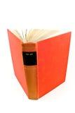 Libro rosso del hardcover su arte fotografia stock