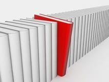 Libro rosso differente illustrazione di stock