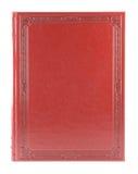 Libro rosso isolato Immagine Stock