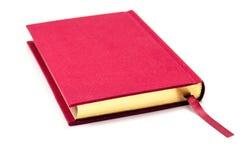 Libro rosso isolato Fotografia Stock Libera da Diritti