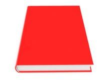 Libro rosso su priorità bassa bianca Fotografia Stock