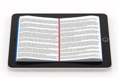 Libro schierato all'interno del telefono Immagine Stock Libera da Diritti