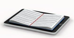 Libro schierato all'interno del telefono Fotografie Stock Libere da Diritti