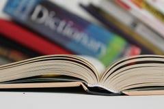 Libro scoperto Fotografie Stock