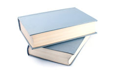 Libro sul primo piano bianco fotografie stock