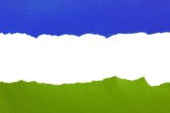 Libro Verde blu e lacerato Fotografie Stock Libere da Diritti