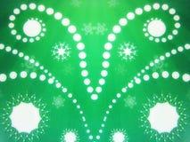 Libro Verde con los copos de nieve Imagenes de archivo