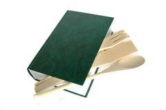 Libro verde del cuoco fotografie stock libere da diritti