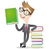 Libro verde della tenuta dell'uomo d'affari royalty illustrazione gratis