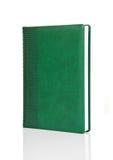 Libro verde en blanco del libro encuadernado con el ornamento Imagen de archivo libre de regalías
