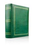 Libro verde en el atascamiento de cuero Imagenes de archivo