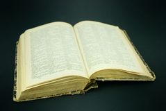 Libro viejo. Imagen de archivo libre de regalías