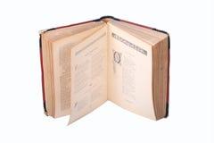 Libro viejo abierto Imagenes de archivo