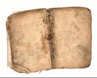 Libro viejo abierto en ambas paginaciones en blanco. Imagenes de archivo