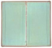 Libro viejo abierto en ambas paginaciones lamentables en blanco fotografía de archivo