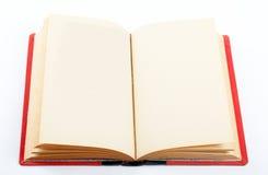 Libro viejo abierto en ambas paginaciones vacías Imagen de archivo