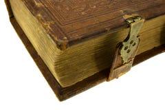 Libro viejo con el bloqueo Fotografía de archivo