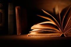 Libro viejo con las paginaciones abiertas fotos de archivo libres de regalías