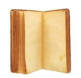 Libro viejo con las paginaciones manchadas amarillas en blanco fotografía de archivo libre de regalías