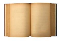 Libro viejo con las paginaciones manchadas amarillas en blanco imágenes de archivo libres de regalías