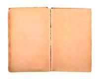 Libro viejo con las paginaciones manchadas amarillas en blanco imagen de archivo
