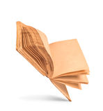 Libro viejo con las paginaciones manchadas amarillas en blanco foto de archivo libre de regalías