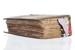 Libro viejo con las tabulaciones Foto de archivo