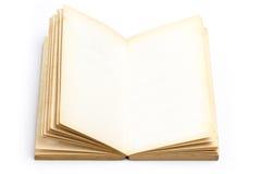 Libro viejo de la página en blanco Imágenes de archivo libres de regalías
