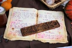 Libro viejo de la receta foto de archivo libre de regalías