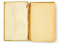 Libro viejo en blanco Imágenes de archivo libres de regalías