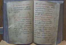 Libro viejo en el museo del Kremlin Imagenes de archivo