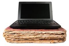 Libro viejo y cuaderno Imagen de archivo
