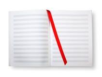 Libro vuoto con i pentagrams o il segno. Fotografia Stock Libera da Diritti