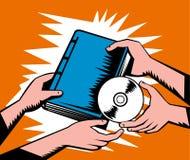 Libro y Cd del intercambio del trueque Imágenes de archivo libres de regalías