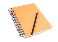 Libro y lápiz Imagen de archivo