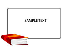 Libro y texto Imagenes de archivo