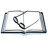 Libro y vidrios Imagen de archivo libre de regalías