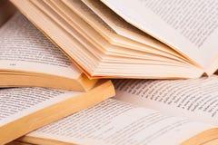 Libros abiertos Imagen de archivo libre de regalías