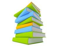 Libros aislados en blanco Imagen de archivo