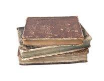 Libros antiguos aislados Fotos de archivo