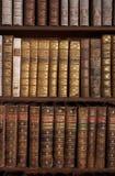 Libros antiguos en el estante Imagen de archivo libre de regalías