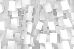 Libros Blanco que caen del cielo Aislado en fondo gris suave Fotografía de archivo libre de regalías