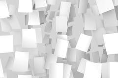 Libros Blanco que caen del cielo Aislado en fondo gris suave Fotos de archivo