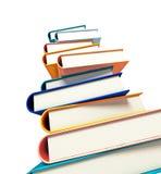 Libros coloreados en blanco Imagen de archivo libre de regalías
