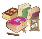 Libros coloridos Imágenes de archivo libres de regalías