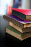 Libros coloridos viejos Fotografía de archivo