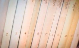 Libros con números Foto de archivo