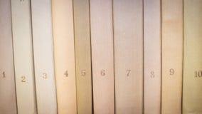 Libros con números Imágenes de archivo libres de regalías