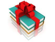 Libros con un arqueamiento Imágenes de archivo libres de regalías