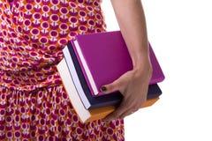 Libros de Carring a la escuela Imágenes de archivo libres de regalías